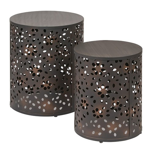 OSP Designs Middleton 2-piece Round Accent Table Set