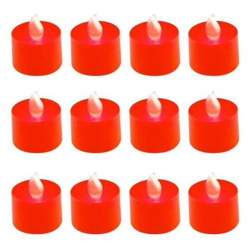 Lumabase Red LED Tealights (Box of 12)