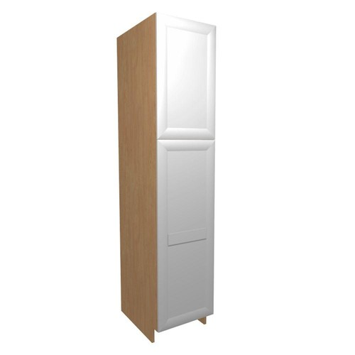 Home Decorators Collection Dolomiti Ready to Assemble 18 x 84 x 24 in. Pantry/Utility Cabinet with 2 Soft Close Doors in Bianco
