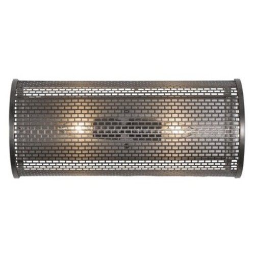 Varaluz Lit Mesh Test 2 Light Wall Lighting , New Bronze With Recycled Steel Mesh Shade
