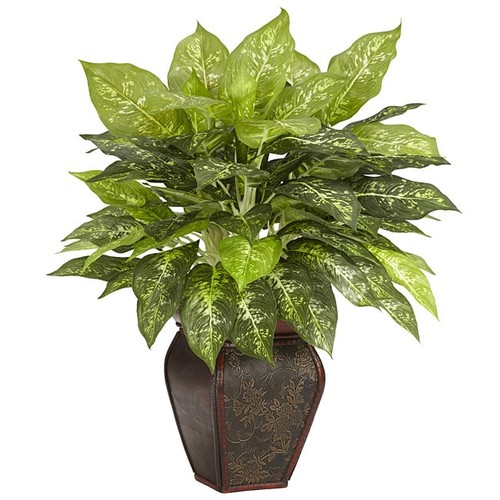 Nearly Natural Dieffenbachia with Decorative Vase Polyester Plant