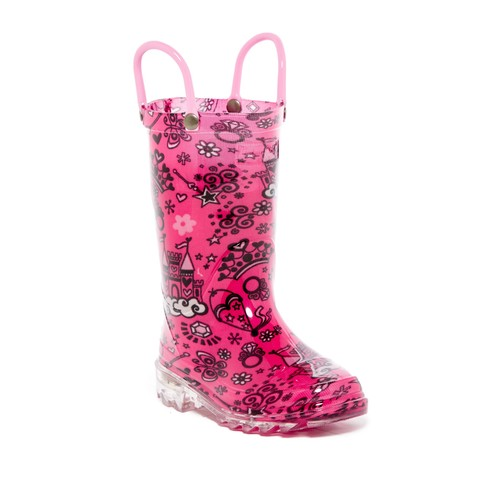 Palace Party Light-Up Rain Boot (Toddler & Little Kid)