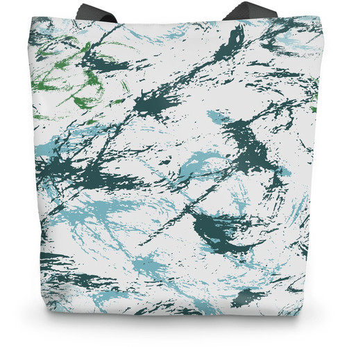 Abstract Military Blue Green CAMO Tote Bag