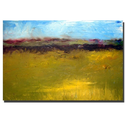 Trademark Global Michelle Calkins 'Abstract Landscape Highway Series' Canvas Art [Overall Dimensions : 35x47]