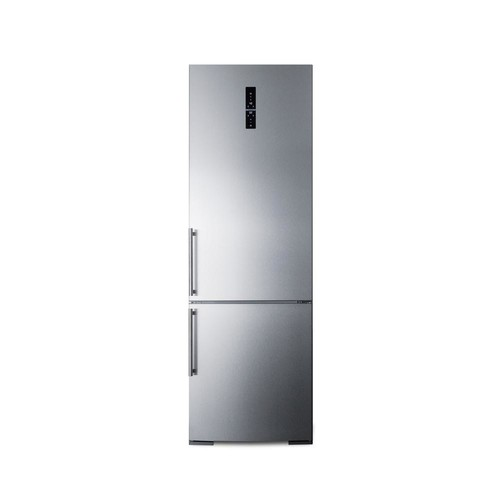 Summit 24 in. W 11.6 cu. ft. Bottom Freezer Refrigerator in Stainless Steel, Counter Depth