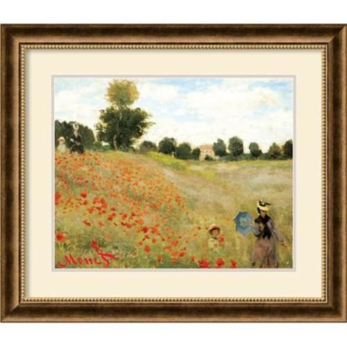 Claude Monet Poppies at Argenteuil, 1873 Framed Art Print