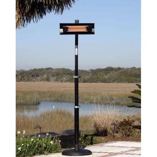 Fire Sense Telescoping Infrared Indoor/Outdoor Patio Heater, Black [Black]