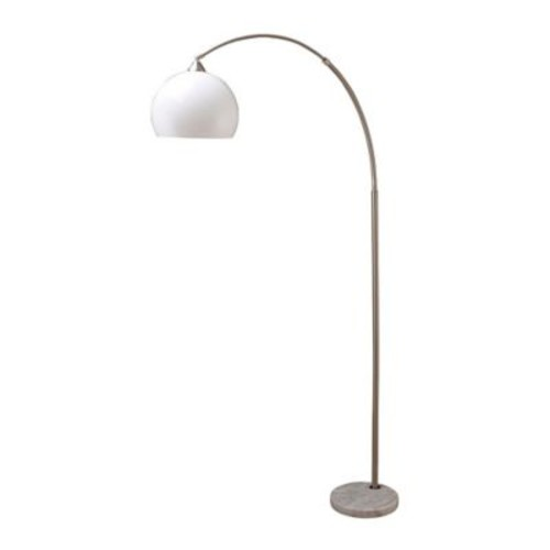 Major-Q Half Dome Modern 78'' Arched Floor Lamp; Brushed Steel