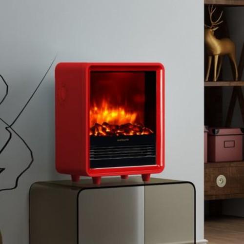 Puraflame Octavia Portable 1500 Watt Electric Cabinet Heater; Red