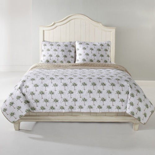Panama Jack Palm Tree Green 3-pc. Cotton Quilt Set