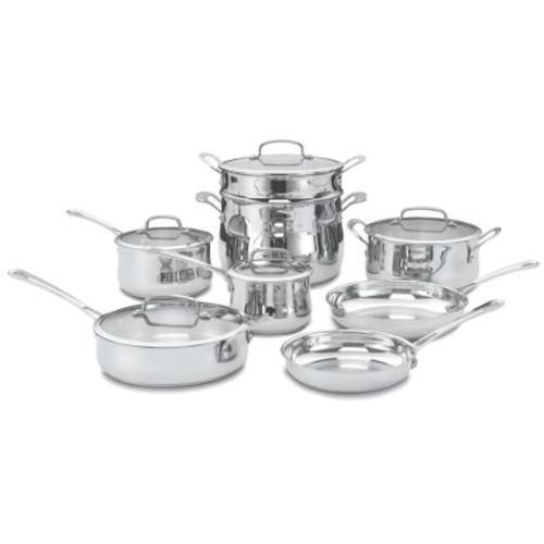 Cuisinart 13-Piece Contour Stainless Cookware Set
