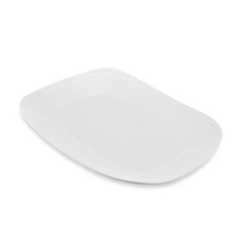 Mikasa Swirl Rectangular Platter in White