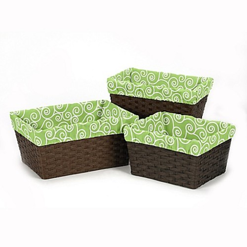 Sweet Jojo Designs Olivia Basket Liners (Set of 3)