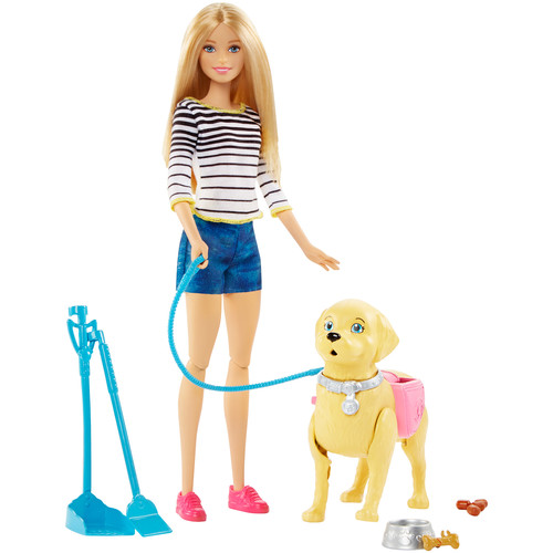 Barbie Walk and Potty Puppy - Blonde Doll