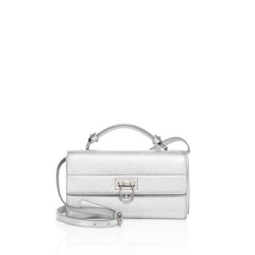 SALVATORE FERRAGAMO Ably Metallic Leather Crossbody Bag
