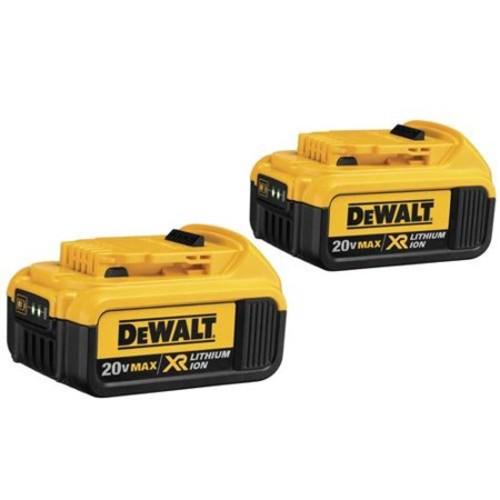 Dewalt 20V Max Premium XR Li-Ion DCB204-2 Battery; 2/Case