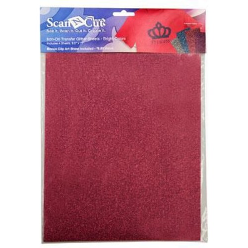 Brother Iron-On Transfer Glitter Sheets, Bright Colors, 4/Pack (CATG02)