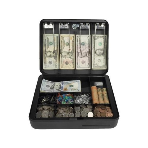 Royal Sovereign RSCB-300 Deluxe Steel Cash Box 4Bill & 9Coin Compartments