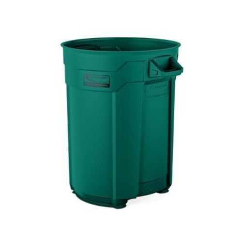 Suncast Commercial Utility Trash Can 55 Gallon, Green (BMTCU55G)