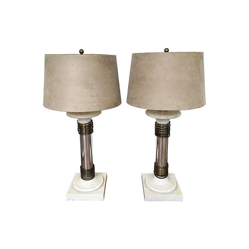 K. Springer-Style Table Lamps, S/2