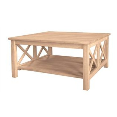 International Concepts Hampton Unfinished Square Coffee Table