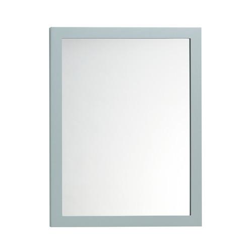 Ronbow Contemporary Solid Wood Framed Bathroom Mirror in Ocean Gray