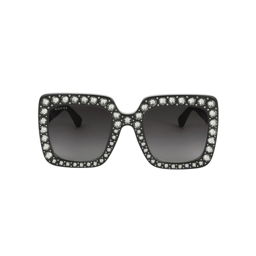 GUCCI Oversized Runway Crystal Sunglasses