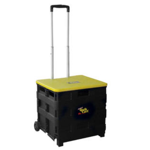 dbest products 3 in 1 Rolling Trolley Storage Bin Quick Cart with Retractable Handle