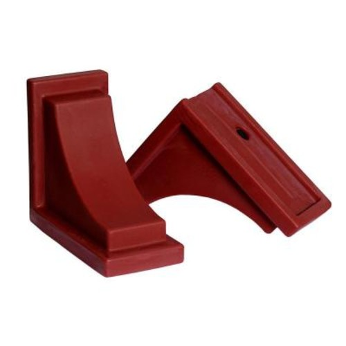 Mayne Red Polyethylene Nantucket Decorative Brackets (2-Pack)