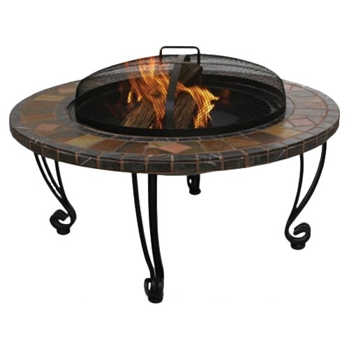 Blue Rhino - UniFlame Slate Tile Fire Pit - Black