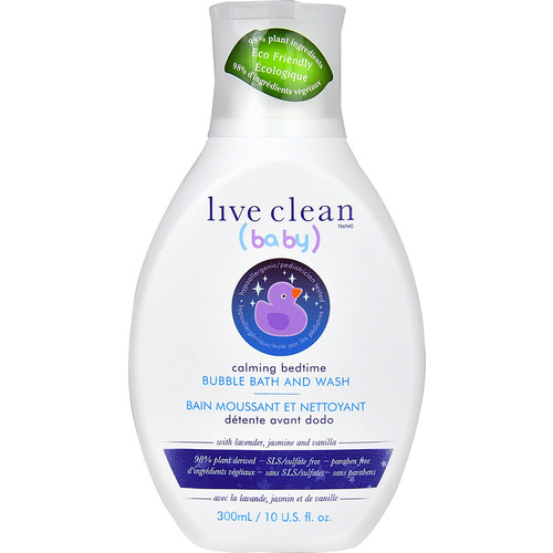 Live Clean Baby Calming Bedtime Bubble Bath and Wash -- 10 fl oz
