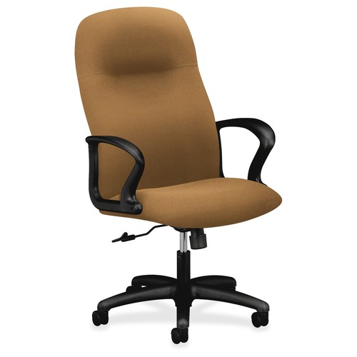 basyx by HON Gamut Fabric Executive Office Chair, Fixed Arms, Black (HON2071CU10T)