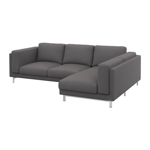 NOCKEBY Cover for sofa, with chaise, right right, Ten dark gray [cover : with chaise, right/Ten dark gray]