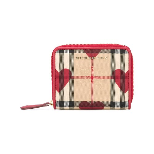 BURBERRY House Check And Hearts Wallet