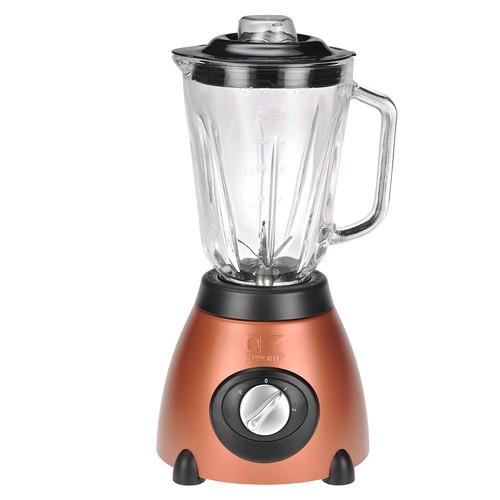 Kalorik 500-Watt 2-Speed Countertop Blender with 50-Oz. Glass Jar, Aztec Copper