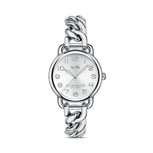 Delancey Stainless Steel Chain Link Bracelet Watch, 28mm