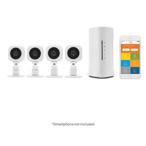 Home8 Mini Cube HD 4 Camera Starter Kit 720p HD Security Camera with Motion/Sound Detect, Night Vision & 2 way Audio (V33040US)