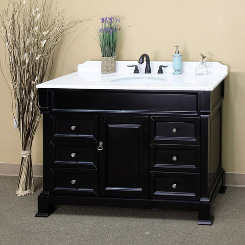 Olivia Espresso Finish 60-inch Single Wood Bathroom Vanity