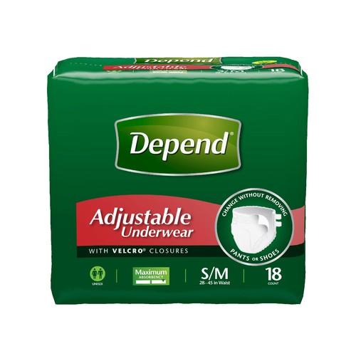 Depend  Adjustable Incontinence Underwear, Maximum Absorbency, Small/Medium