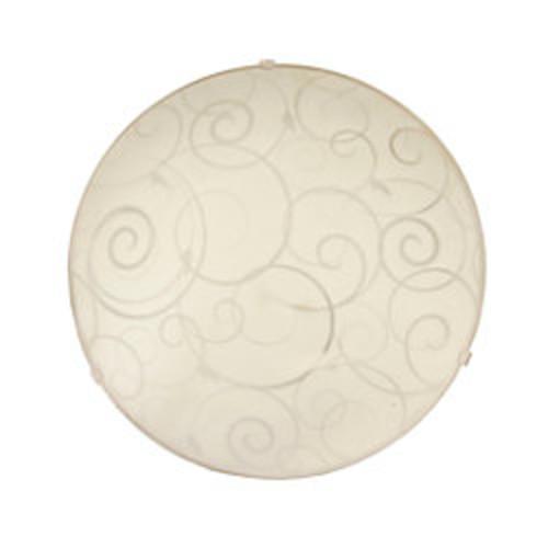 Simple Designs Flush-Mount Indoor Ceiling Light, 60W, Round, White