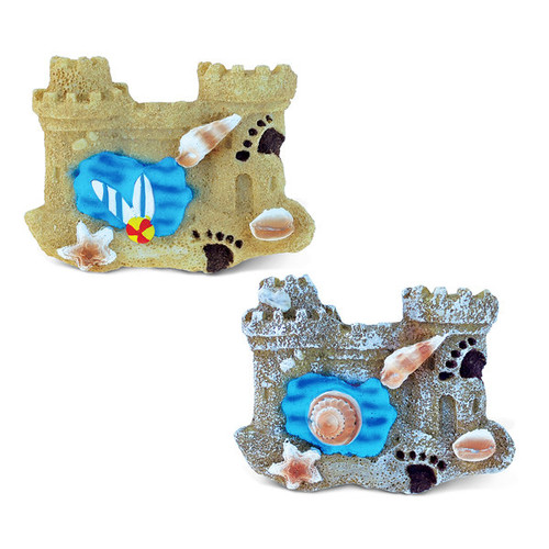Puzzled Castle Blue Wave Resin Refrigerator Magnets (Set of 2)