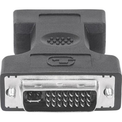 Manhattan DVI-I Dual Link Male to VGA Female Digital Video Adapter - Fully shielded - ideal for all monitor sizes and ty