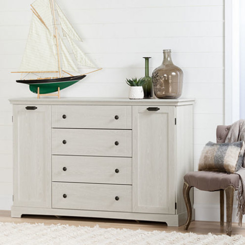 Avilla 4-Drawer Dresser with Doors