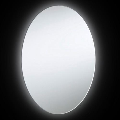 Dainolite Silver 35-inch x 28-inch 38-watt Oval Backlit Mirror - White - 35 x 28
