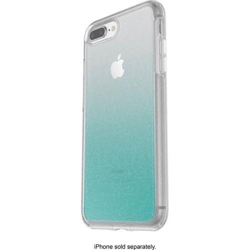 OtterBox - Symmetry Series Case for Apple iPhone 7 Plus and iPhone 8 Plus - Clear light blue/aloha ombre
