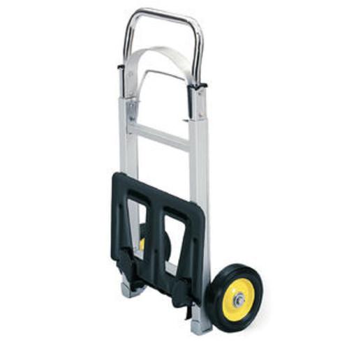 Safco Hide-Away Office Folding Wheeled Luggage Storage Cart Aluminum Hand Truck