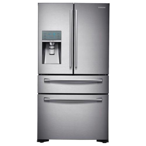 Samsung RF24FSEDBSR 24 cu. ft. Counter-Depth 4-Door Refrigerator w/ FlexZone Drawer - Stainless Steel