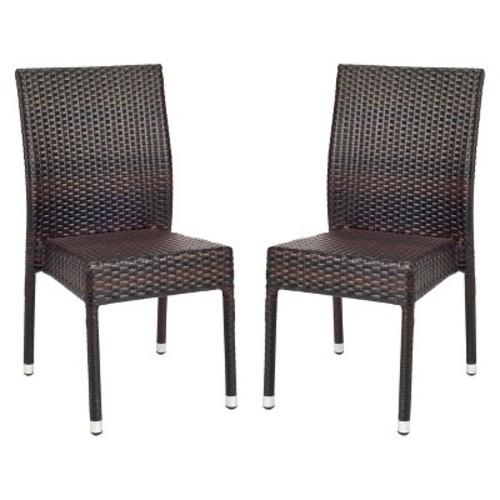 Safavieh Cape Cod 2-Piece Wicker Patio Side Chair Set