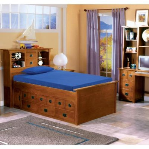 Rest Rite Kids Blue 5 in. Twin-Size Memory Foam Mattress with Comfort Foam