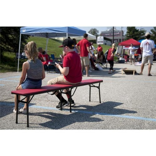 Cosco Red Portable 2-Pack Folding Tailgate Bench
